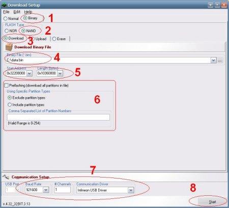 Настройка FlashTool_E2 для загрузки модифицированного ПО в телефон LG Arena