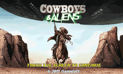 Cowboys And Aliens (Landscape) - Ковбои против Пришельцев (Альбомная)
