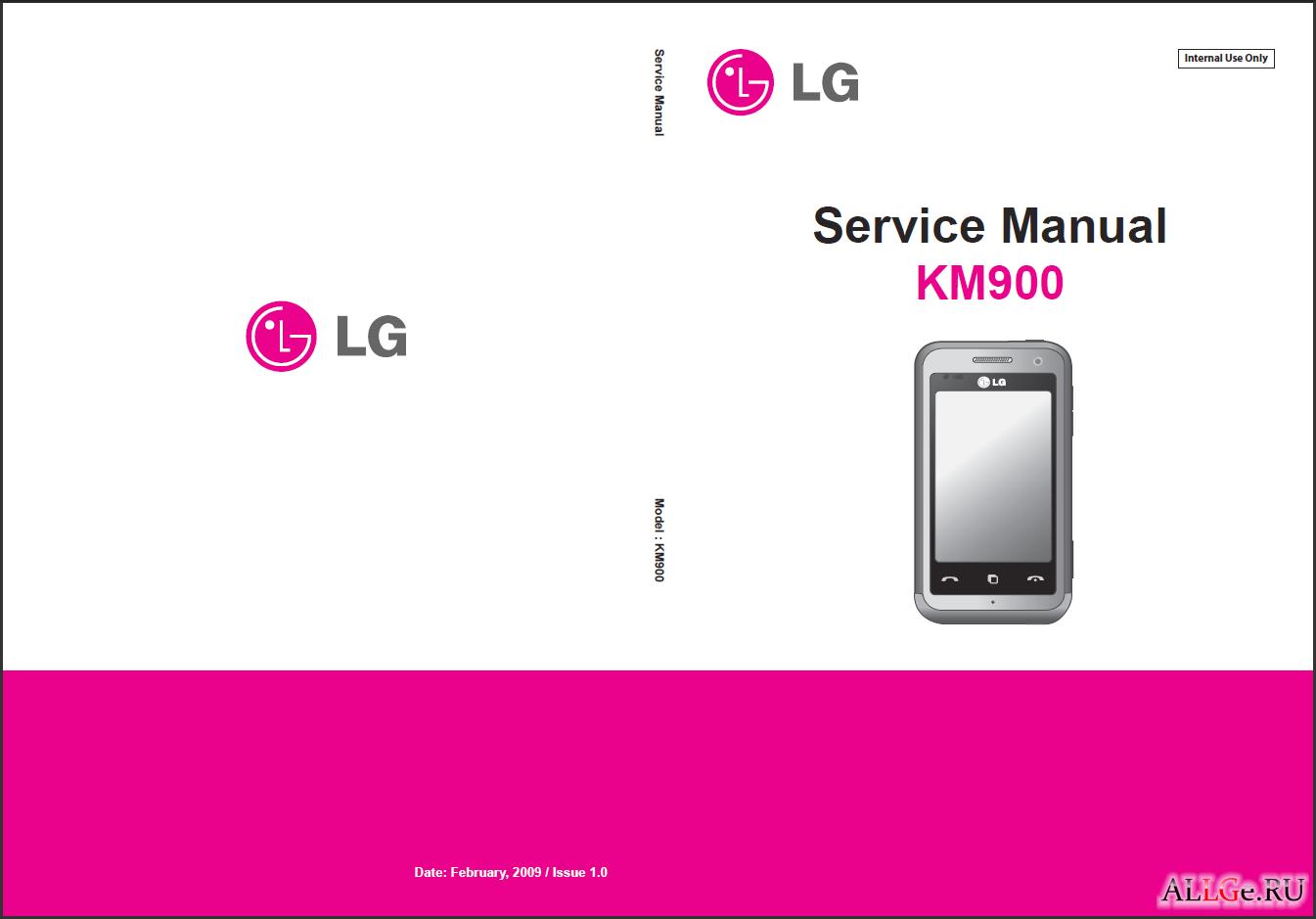 Schematic Service Manual KM900 - это Сервисное руководство LG KM900 со схемами и чертежами...