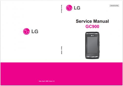 Сервисное Руководство LG GC900 Viewty Smart