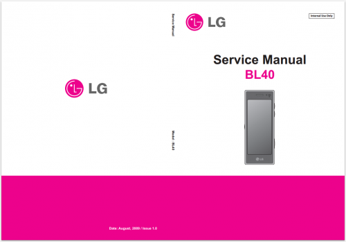 Сервисное Руководство LG BL40 chocolate