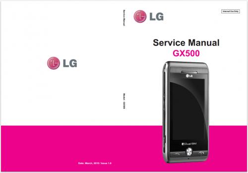 Сервисное Руководство LG GX500 DualSim