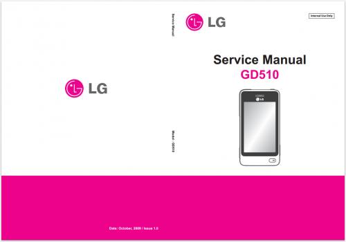 Сервисное Руководство LG GD510 Pop