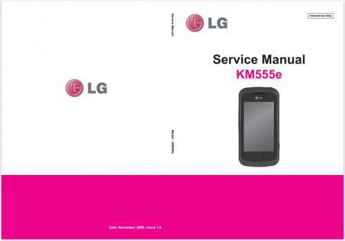 Сервисное Руководство LG KM555e Clubby