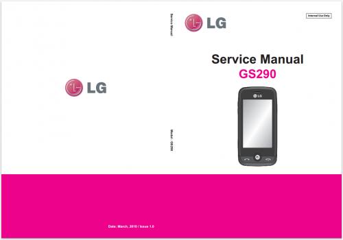 Сервисное Руководство LG GS290 Cookie Fresh