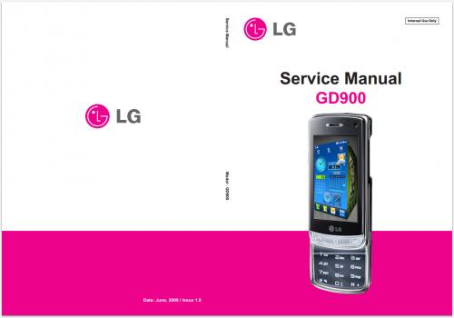 Сервисное Руководство LG GD900 Crystal