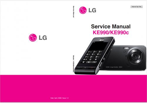 Сервисное Руководство LG KE990 Viewty
