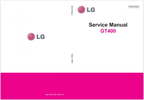 Сервисное Руководство LG GT400 Viewty Smile