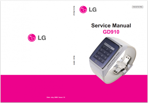 Сервисное Руководство LG GD910 3G Watch Phone