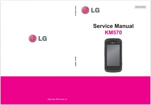 Сервисное Руководство LG KM570 Cookie Music