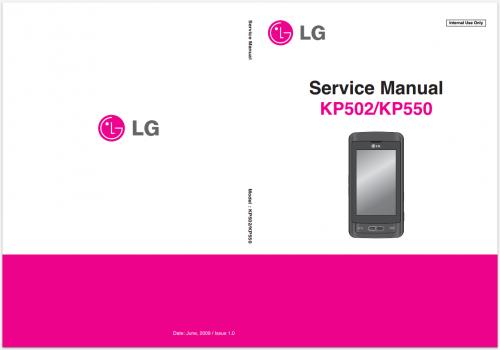 Сервисное Руководство LG KP502 KP550