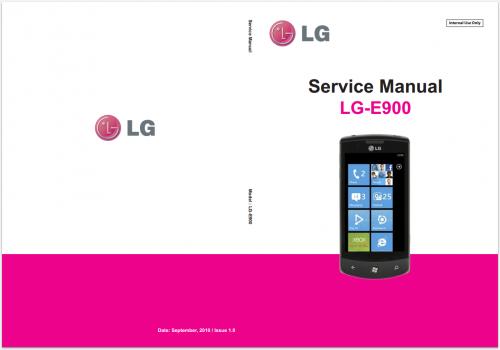 Сервисное Руководство LG E900 Optimus 7