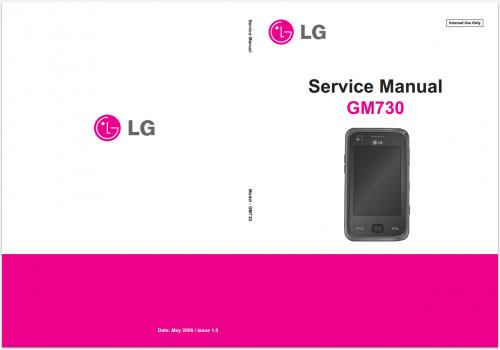 Сервисное Руководство LG GM730