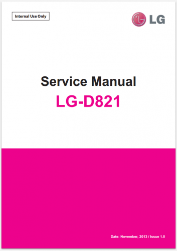 Сервисное Руководство LG D821 Nexus 5