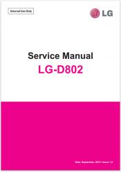 Сервисное Руководство LG D802 Optimus G2