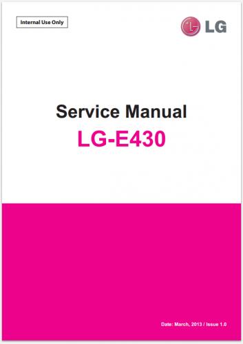 Сервисное Руководство LG E430 Optimus L3 II