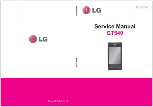 Сервисное Руководство LG GT540 Optimus