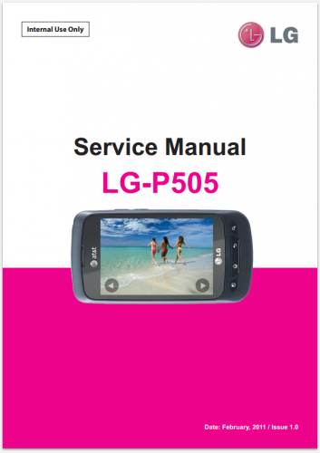 Сервисное Руководство LG P505 Phoenix