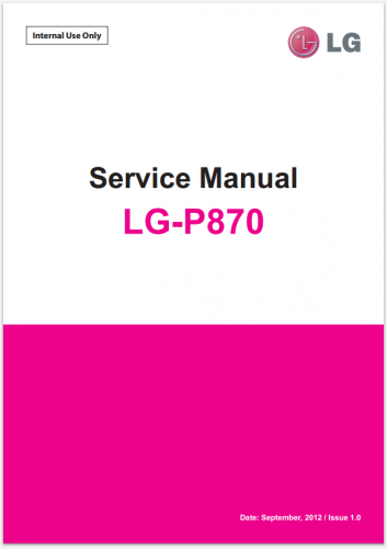 Сервисное Руководство LG P870 Escape