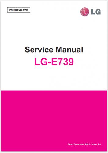 Сервисное Руководство LG E739 myTouch