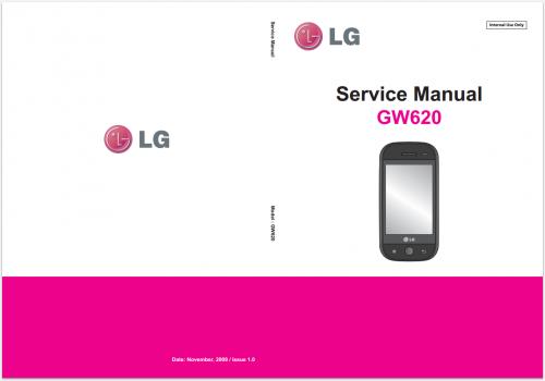 Сервисное Руководство LG GW620 Eve