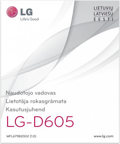 Руководство пользователя LG Optimus L9 II D605