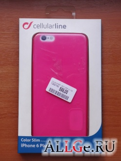 Чехол cellularline Color Slim для iPhone 6 Plus / iPhone 6S Plus (Розовый)