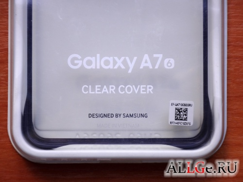 Чехол для Galaxy A7 (6) SAMSUNG Clear Cover (Black)