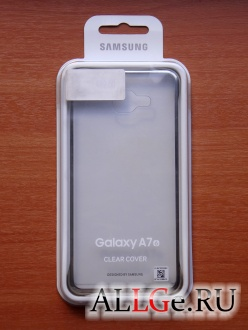 Чехол EF-QA710CFEGRU Clear Cover для Galaxy A7 (6) Золотистый