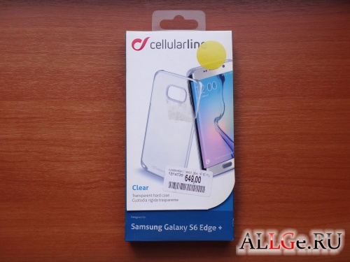 Чехол Cellular Line Clear для Samsung Galaxy S6 Edge+ (Прозрачный)
