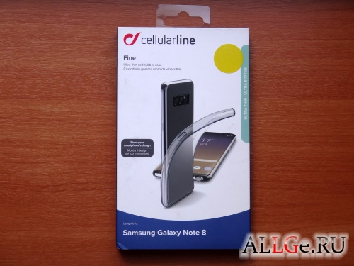 Чехол Cellular Line Fine для Samsung Galaxy Note 8
