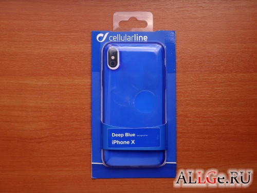 Чехол Cellular Line Deep Blue для iPhone X (Новый)