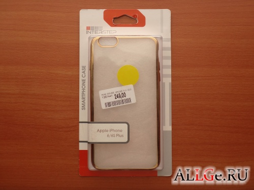 Клип-кейс InterStep Frame (Gold) для iPhone 6/6S Plus