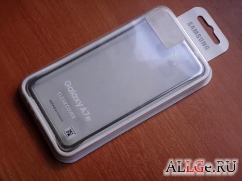 Чехол EF-QA710CFEGRU Clear Cover для Galaxy A7 (6) Золотистый