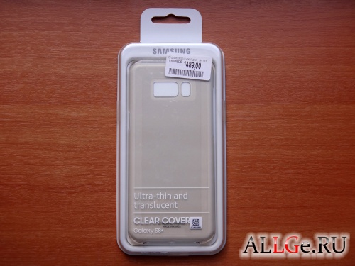 Чехол SAMSUNG Clear Cover для Galaxy S8+ (Gold)